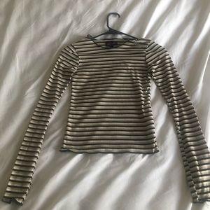 S Striped long sleeve shirt